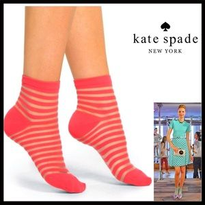 ⭐️⭐️ KATE SPADE Striped Trouser Ankle Boot Socks